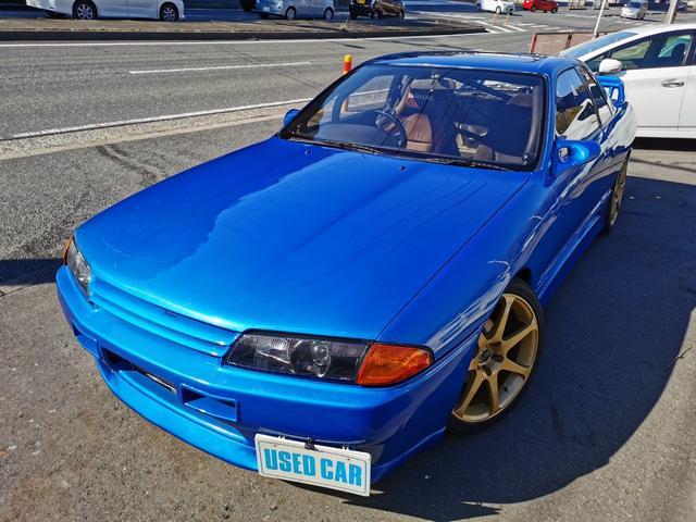 日産 スカイライン GTS-tタイプM 絶版 HCR32改 タイプM クーペ 全塗装 車高調 LSD GTRフェイス 前置インタークーラー ロールバー タワーパー ブーコン オイルクーラー エアロミラー 外アルミ LEDテール サンルーフ