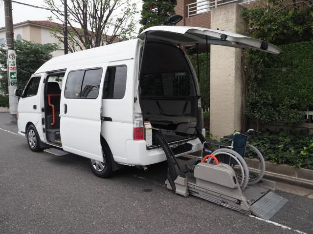 日産 福祉車両 リヤー電動リフト 車椅子2名他8名乗り