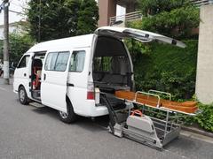 キャラバンバス福祉車両 ディーゼルターボ4WD 車椅子2名他8名乗車