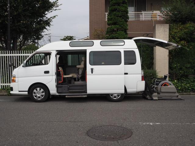 日産 福祉車両 リヤー電動リフト 車椅子2計10名 オートステップ