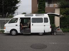 キャラバンバス福祉車両 リヤー電動リフト 車椅子2計10名 オートステップ