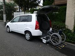 プレマシー福祉車両 リヤスロープ 車いす移動車 8ナンバー