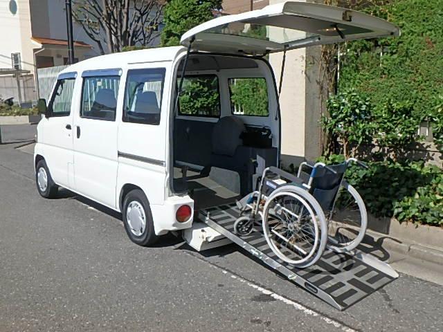 三菱 ミニキャブバン 福祉車両 ニールダウン式 スローパー車椅子移...