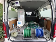 ハイエースバン福祉車両 移動入浴車 デベロ製 バスタブ&担架新品