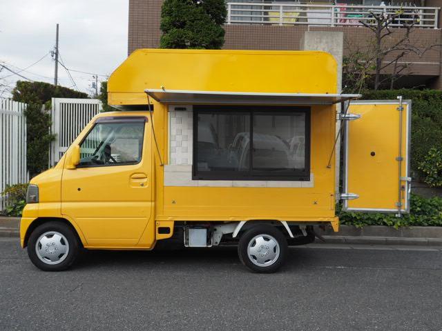 三菱 移動販売車 8ナンバー登録 シンク2口 外部コンセント