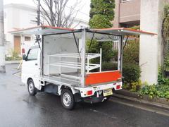 ミニキャブトラック移動販売車 キッチンカー 3方向上下観音開き
