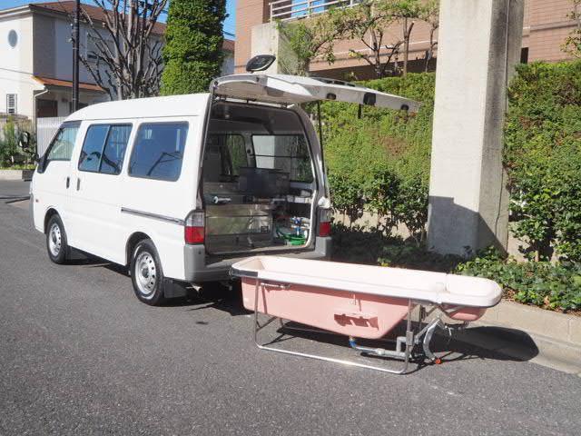 マツダ ボンゴバン  福祉車両 移動入浴車 モリタエコノス製造 一体型湯舟 4人乗り