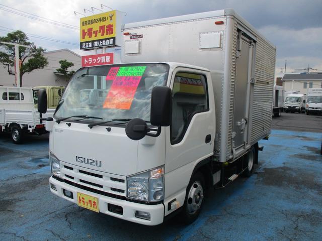 いすゞ エルフトラック 2.0tFFLアルミV 10尺 SG 左スライド/リヤ観音扉