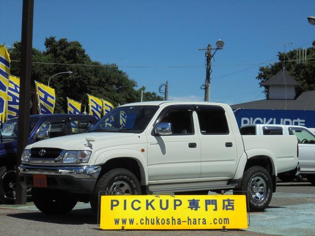 トヨタ ダブルキャブ ワイド 4WD メッキバンパー シートカバー