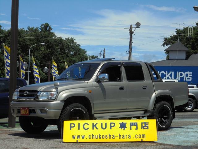 トヨタ ハイラックススポーツピック ダブルキャブ ワイド 4WD サンルーフ ステップバンパー