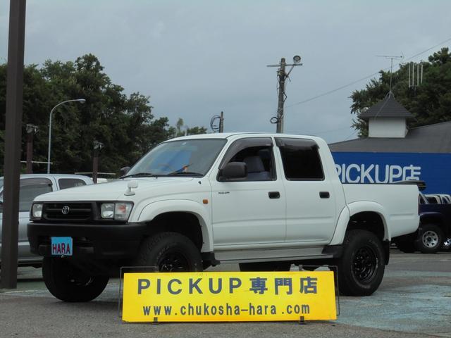 トヨタ ダブルキャブ ワイド 4WD 新品ホイール リフトアップ 荷台ライナー加工