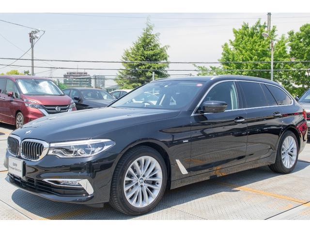 BMW 523iツーリング ラグジュアリー 黒レザー 地デジ