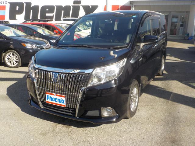 トヨタ HV Gi後席モニタ専用10型ナビ両電動ドア黒革スマートキー