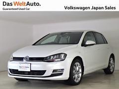 VW ゴルフハイライン 白レザー 禁煙デモカー純正ナビTVバックカメラ