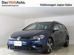 VW ゴルフRヴァリアント禁煙 1オナ 4WD ナビTV ETC BC 黒革 7.5型