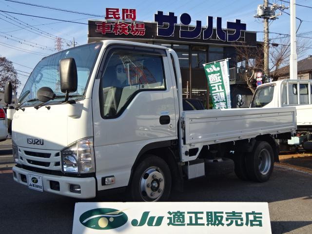 いすゞ エルフトラック フルフラットロー 2t積載 10尺平ボディ スムーサーEx 3.0Dターボ TRG-NJR85A キーレス ETC メモリーナビ
