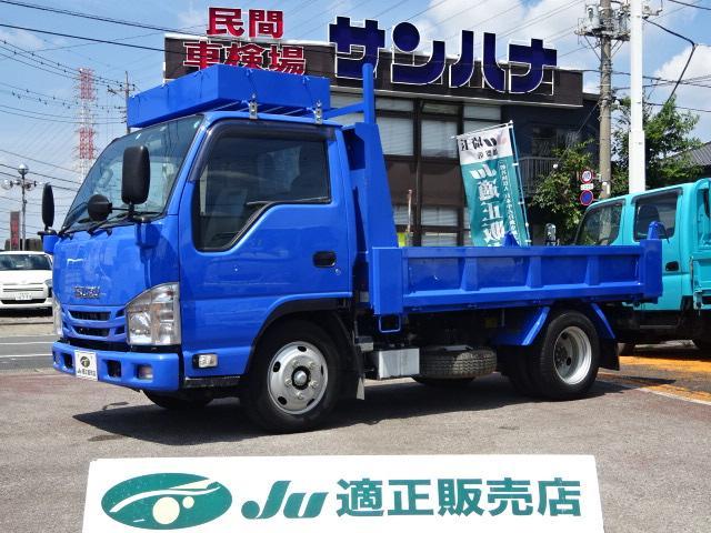 いすゞ エルフトラック ダンプ 3t積載ダンプ 4ナンバー 3.0Dターボ 6F メモリーナビ ワンセグ ETC ドラレコ付き