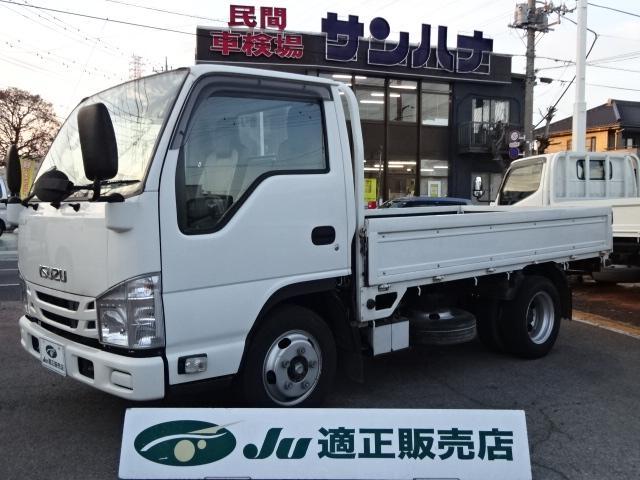 いすゞ エルフトラック フルフラットロー 2t積載 10尺平ボディ AT スムーサーEx 3.0Dターボ TPG-NJR85A 荷台 煽り塗装処理