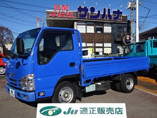 いすゞ エルフトラック フルスーパーロー 2t積載10尺平ボディ 3.0Dターボ スムーサーEx TRG-NJR85A