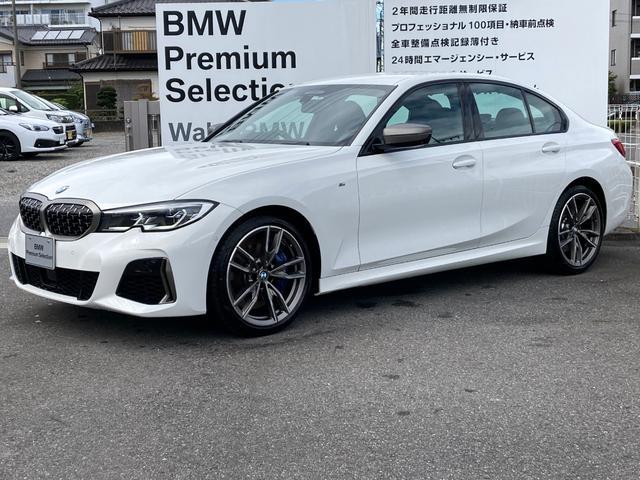 BMW M340i xDrive 直6ターボ 四駆 黒革シート Mスポブレーキ ハーマンカードンSP HUD 地デジ アップルカープレイ アダプティブLEDHライト 19アルミ トランクスポイラー 高速道路渋滞時ハンズオフアシスト