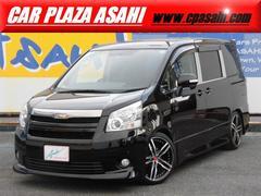 ノアSi 両側自動ドア 社外18AW 車高調 黒革調シートカバー