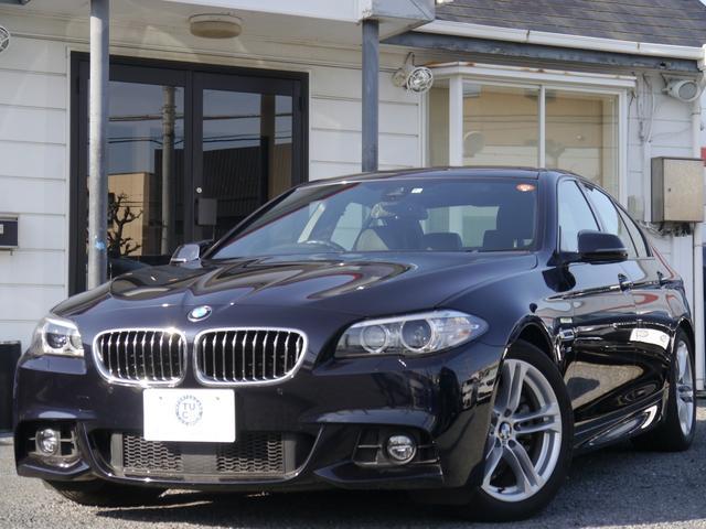 BMW 523d Mスポーツ 後期 黒革 ACC iストップ2年保証