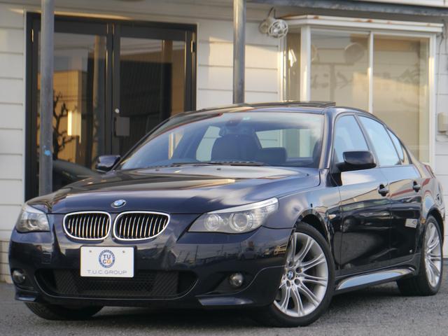 BMW 525i Mスポーツ後期 1オーナ サンR エアロ 2年保証
