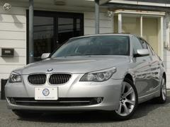 BMW525iハイライン 後期 サンR 黒革 電子シフト 2年保証