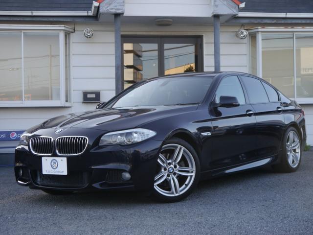 BMW 523iMスポーツ 直噴ターボ 黒革 OP19AW 2年保証