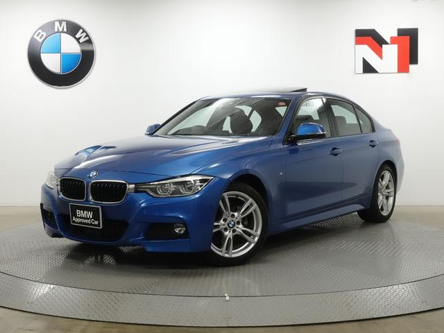 BMW 320i Mスポーツ 18インチAW アクティブクルーズコントロール パドルシフト Rカメラ FRセンサー LED 電動ガラスサンルーフ LED 衝突警告 車線逸脱 USB