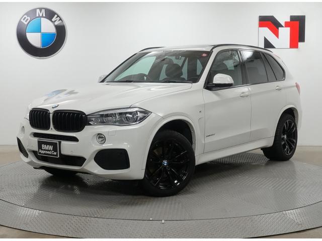 BMW X5 リミテッドホワイト 20インチブラックAW アクティブクルーズコントロール パドルシフト 全周囲カメラ FRセンサー LED 衝突軽減 車線逸脱 USB Harman/Kardon 電動ガラスサンルーフ