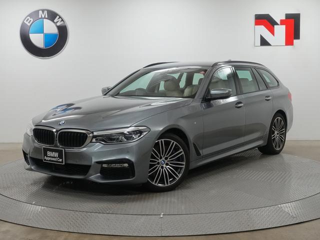 BMW 540i xDriveツーリング Mスポーツ 19インチAW キャンベラベージュ内装 アクティブクルーズコントロール パドルシフト ヘッドアップディスプレイ 全周囲カメラ FRセンサー 全周囲カメラ 衝突軽減 車線逸脱