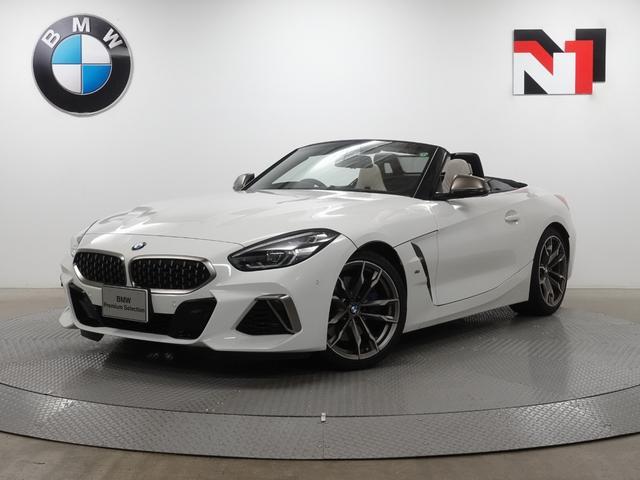 BMW Z4 M40i 19インチAW アイボリーホワイトレザー内装 アクティブクルーズコントロール パドルシフト Rカメラ FRセンサー LED 衝突軽減 車線逸脱 ヘッドアップディスプレイ Harman/Kardon