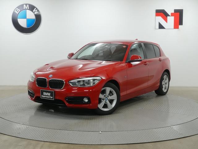 BMW 118i スポーツ 16インチAW クルーズコントロール Rカメラ FRセンサー LED 衝突軽減 車線逸脱 USB AUX
