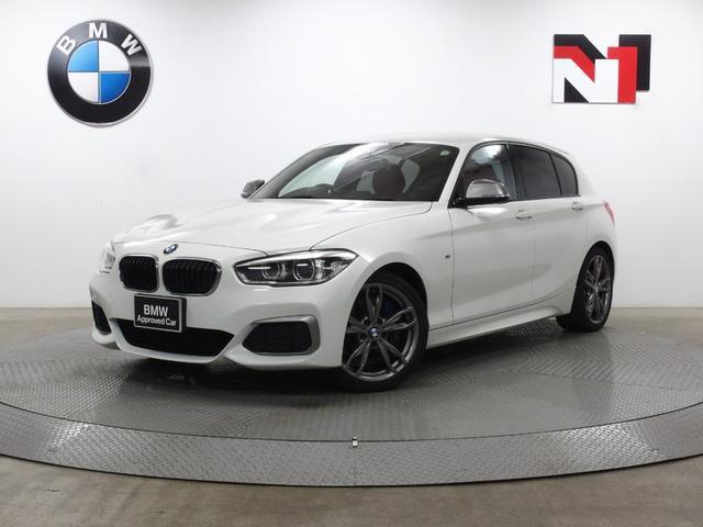 BMW M140i 18インチAW コーラルレッドレザー内装 クルーズコントロール パドルシフト Rカメラ FRセンサー LED 衝突軽減 車線逸脱 USB AUX