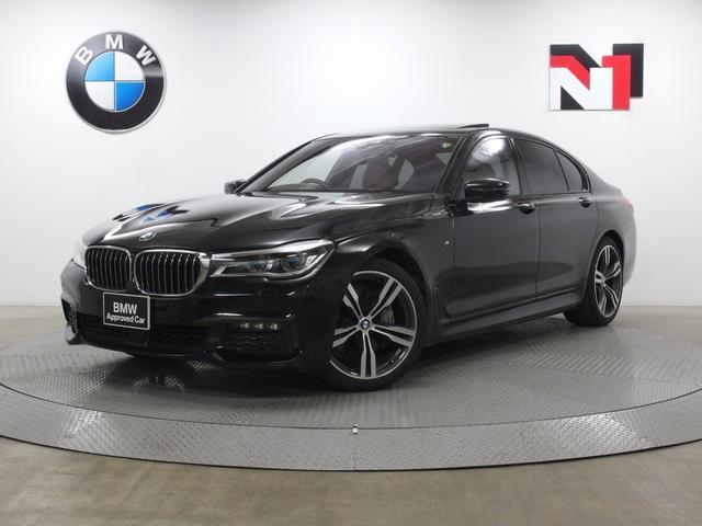 BMW 7シリーズ 740i Mスポーツ 20インチAW 電動ガラスサンルーフ アクティブクルーズコントロール アダプティブLED 全周囲カメラ FRセンサー 衝突軽減 車線逸脱 Harman/Kardon コニャックレザー内装