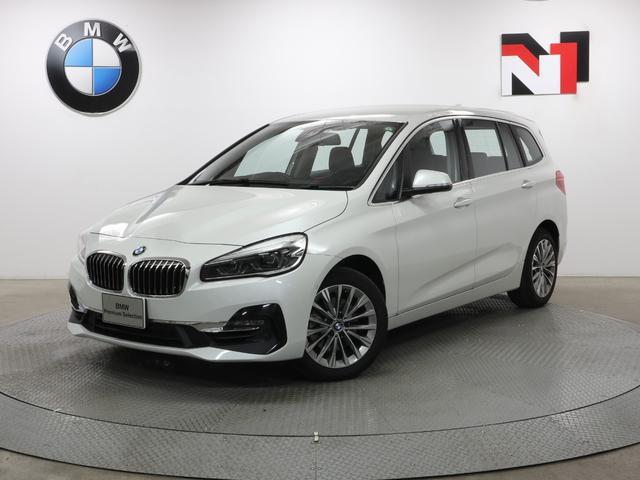 BMW 218iグランツアラー ラグジュアリー 17インチAW アクティブクルーズコントロール Rカメラ FRセンサー ヘッドアップディスプレイ LED 衝突軽減 車線逸脱 USB フロントシートヒーター