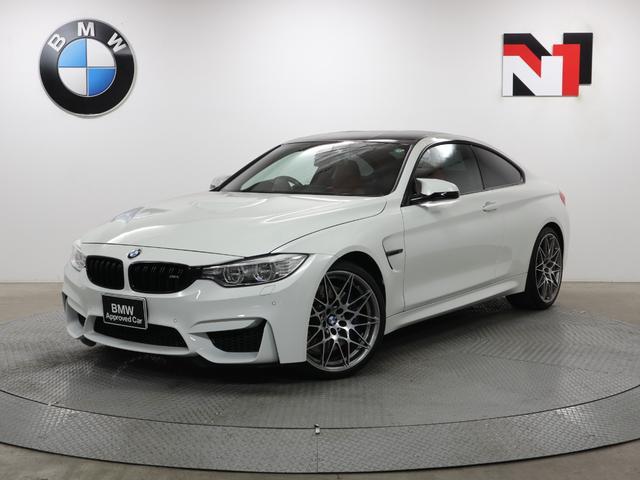 BMW M4クーペ コンペティション 20インチAW コンペティションパッケージ パドルシフト Rカメラ FRセンサー LED 衝突警告 車線逸脱 USB ヘッドアップディスプレイ サキールオレンジレザー内装 コンフォートアクセス