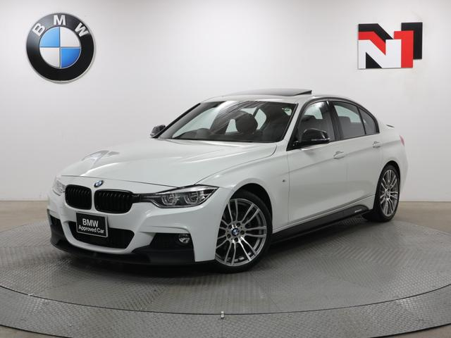 BMW 320d Mスポーツ 19インチAW M Performanceエアロ 電動ガラスサンルーフ アクティブクルーズコントロール パドルシフト LED 衝突軽減 車線逸脱 Rセンサー FRセンサー USB
