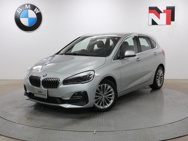 BMW 2シリーズ 218dアクティブツアラー ラグジュアリー 17インチAW ブラックレザー内装 フロントシートヒーター Rカメラ FRセンサー LED 衝突軽減 車線逸脱 USB 電動リヤゲート