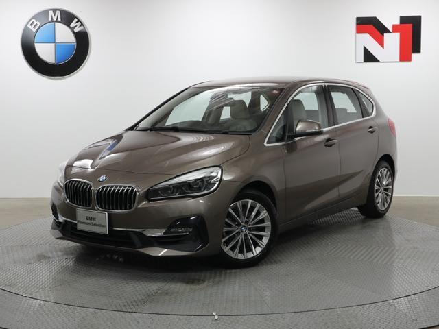 BMW 218iアクティブツアラー ラグジュアリー 17インチAW ベージュレザー内装 コンフォートパッケージ Rカメラ FRセンサー LED 衝突軽減 車線逸脱 USB フロントシートヒーター 電動リヤゲート