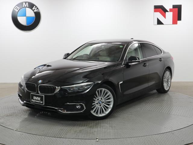 BMW 420iグランクーペ ラグジュアリー 18インチAW アイボリーレザー アクティブクルーズコントロール Rカメラ FRセンサー LED 衝突軽減 車線逸脱 フロントシートヒーター 電動リヤゲート