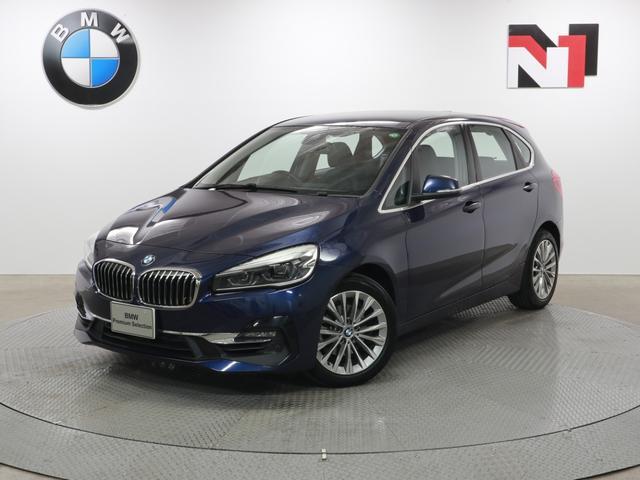 BMW 218iアクティブツアラー ラグジュアリー 17インチAW ブラックレザー コンフォートパッケージ Rカメラ FRセンサー LED 衝突軽減 車線逸脱 USB フロントシートヒーター 電動リヤゲート