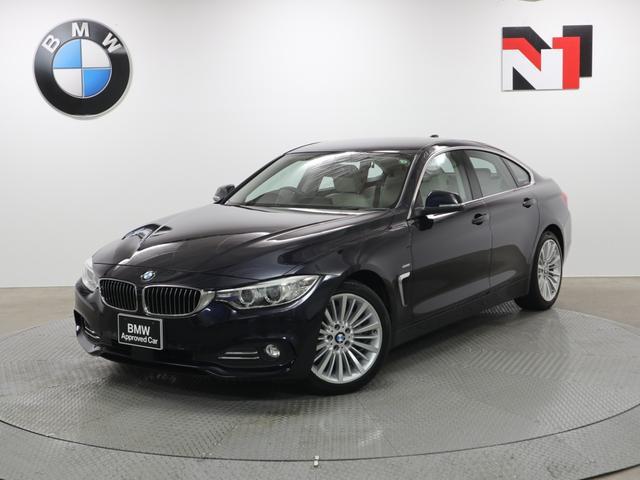 BMW 420iグランクーペ ラグジュアリー 18インチAW アイボリーレザー内装 アクティブクルーズコントロール Rカメラ FRセンサー 衝突軽減 車線逸脱 LED フロントシートヒーター 電動リヤゲート