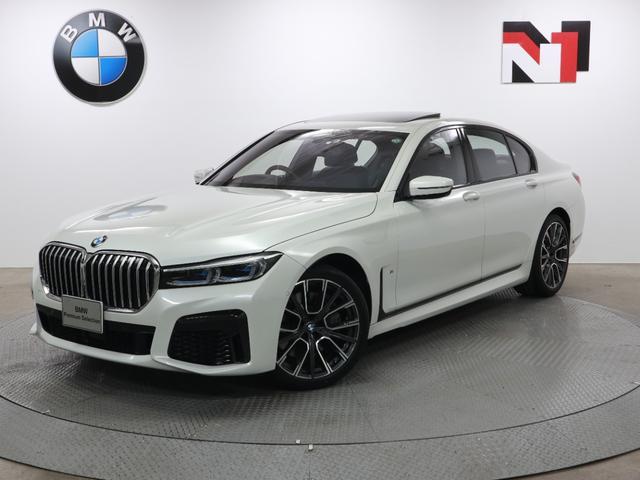 BMW 750i xDrive Mスポーツ 20インチAW 電動ガラスサンルーフ アクティブクルーズコントロール パドルシフト 全周囲カメラ FRセンサー レーザーライト 衝突軽減 車線逸脱 ヘッドアップディスプレイ