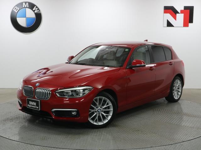 BMW 118i ファッショニスタ 17インチAW オイスターレザー アクティブクルーズコントロール Rカメラ FRセンサー LED 衝突軽減 車線逸脱 USB フロントシートヒーター