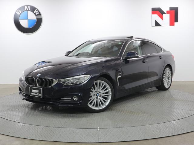 BMW 4シリーズ 430iグランクーペ ラグジュアリー 19AW 電動ガラスサンルーフ ブラウンレザー アクティブクルーズコントロール Rカメラ FRセンサー 衝突軽減 車線逸脱 LED USB フロントシートヒーター