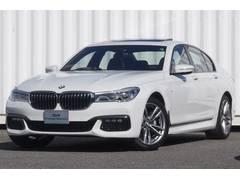 BMW740MスポSR黒革ナビTV全面カメラ4座ACヒート自動縦列