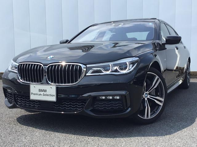 BMW 750Li Mスポーツ 禁煙車 黒レザー 地デジ GSR