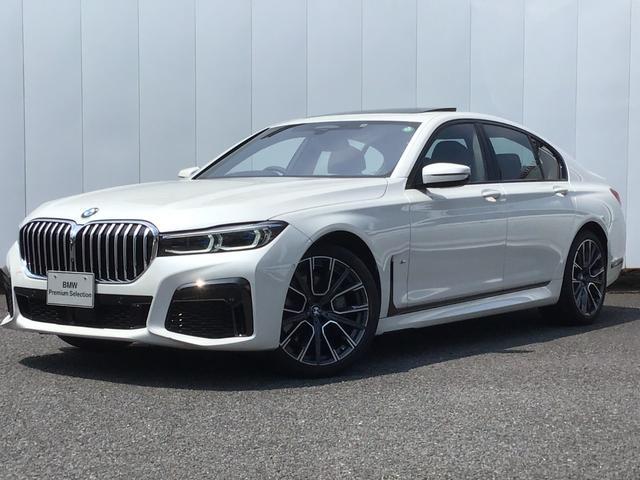 BMW 740i Mスポーツ アクティブクルーズコントロール ドライブアシスト トップビューカメラ ブラックレザーシート 地デジチューナー ガラスサンルーフ 20インチAW マルチ液晶メーター LED ETC 弊社デモカー 禁煙車